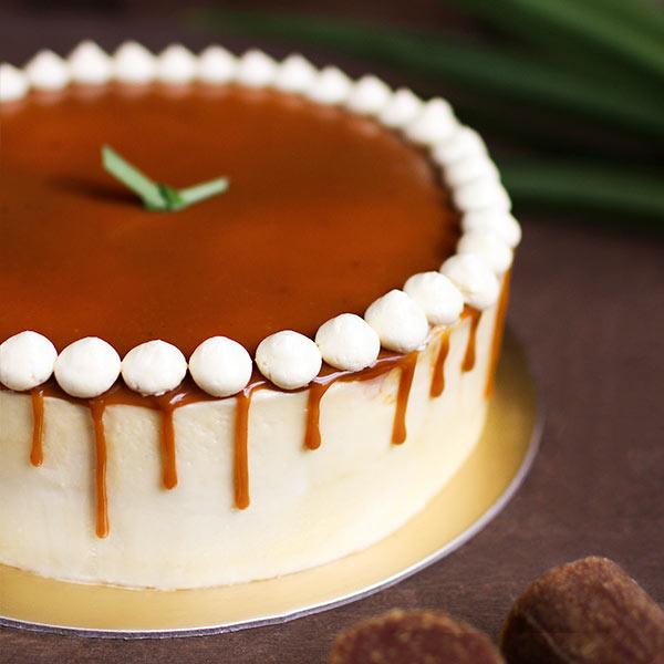 Pandan Gula Melaka Cream Cake with Coconut Crunch